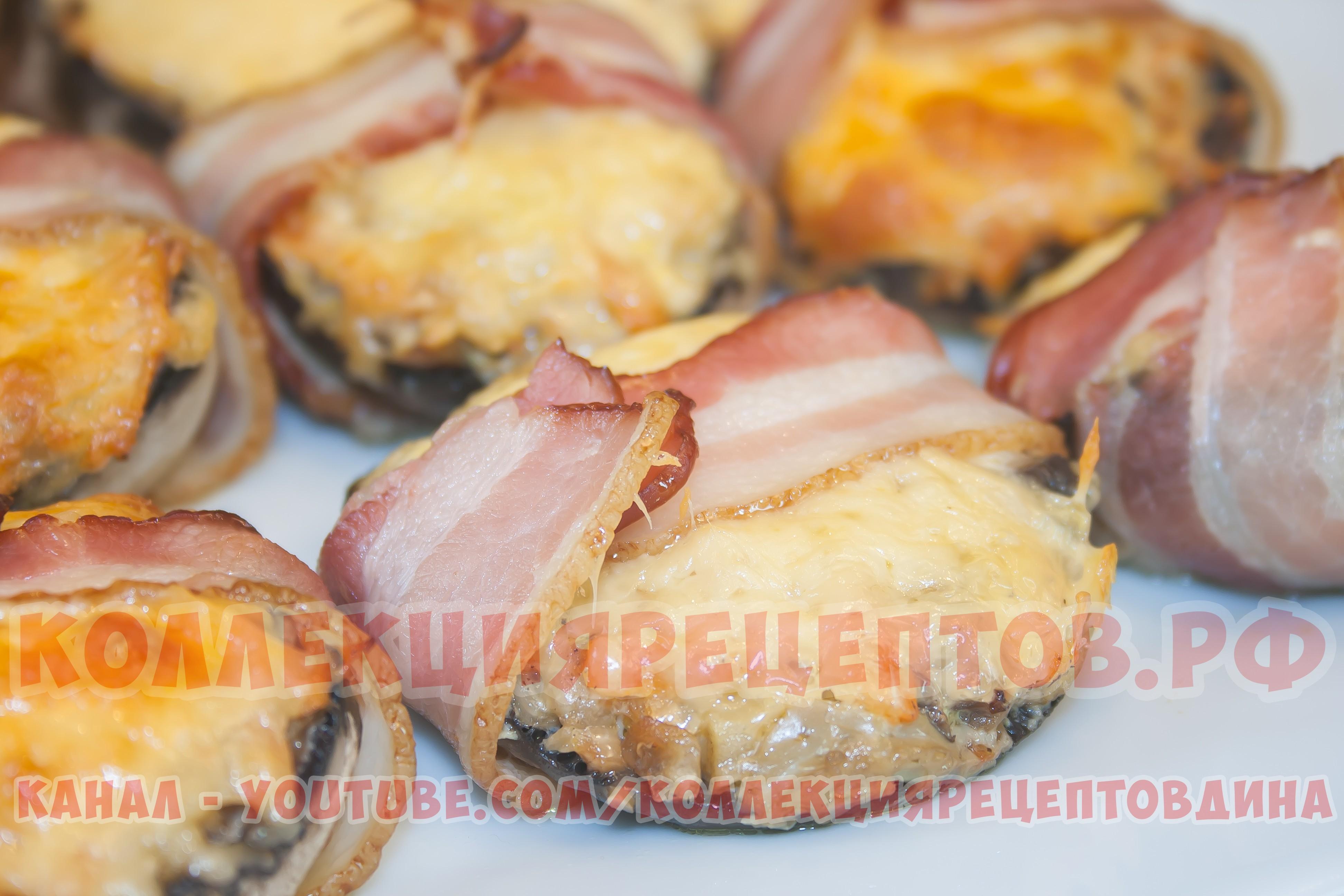 Шампиньоны в духовке с сыром пошагово