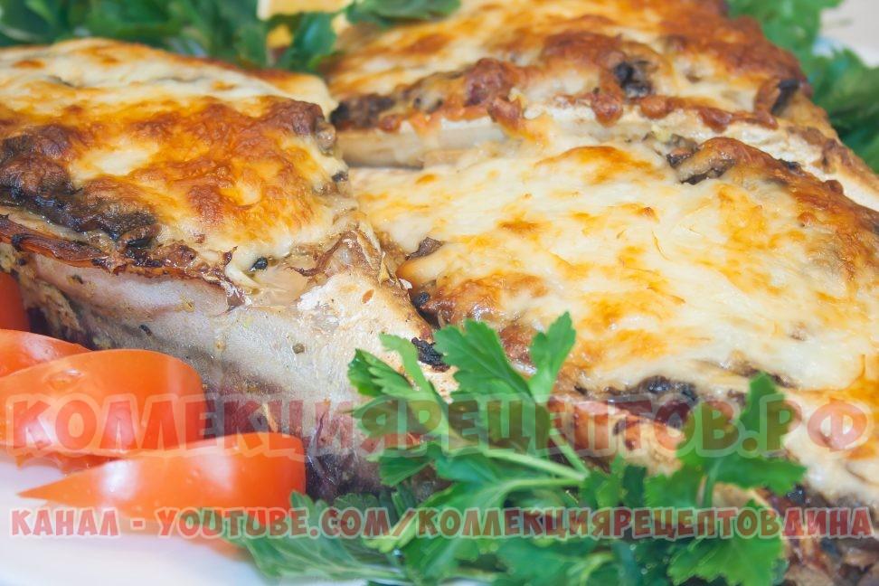 Скумбрия, запеченная в духовке с овощами и грибами! - Очень вкусный рецепт фаршированной рыбы