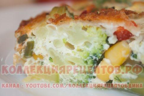 Омлет с брокколи - Коллекция Рецептов