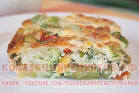 Омлет с овощами и сыром в духовке «Фриттата» - Коллекция Рецептов