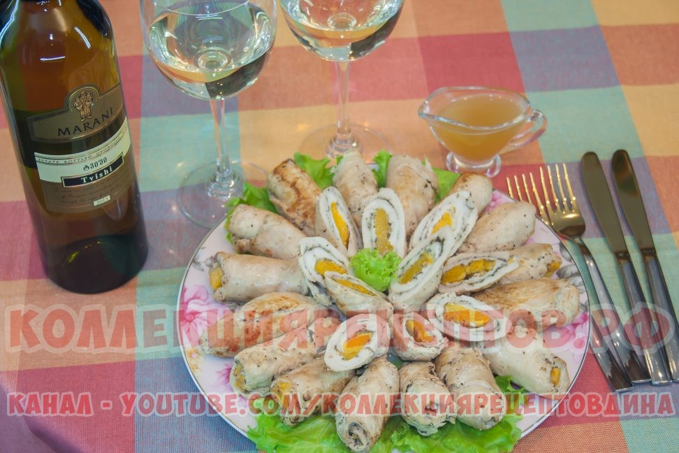 Рулетики из куриного филе в духовке - Коллекция Рецептов
