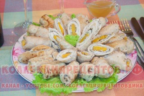 Рулетики из куриного филе с фото - Коллекция Рецептов