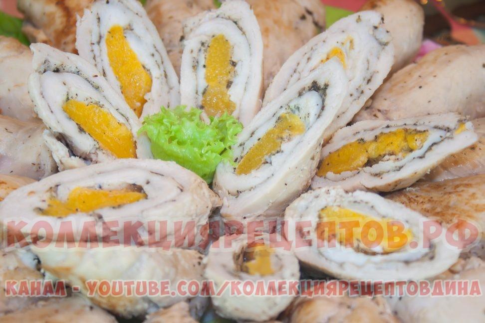 Рулет из куриного филе - Коллекция Рецептов