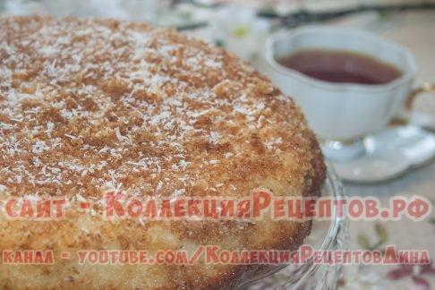 кокосовый пирог со сливками рецепт с фото