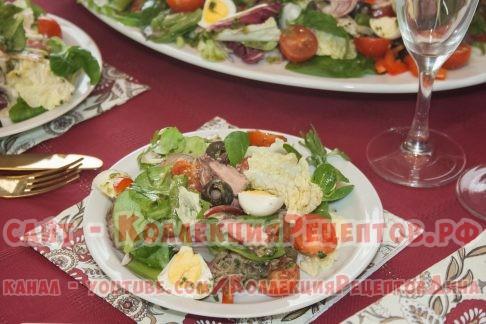 салат нисуаз классический фото - Коллекция Рецептов