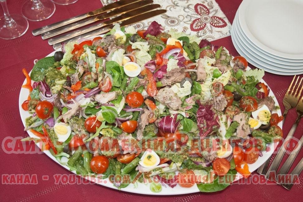 салат с тунцом и яйцом - Коллекция Рецептов