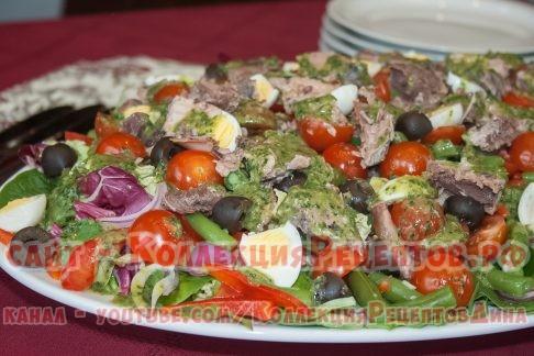 салат с тунцом консервированным рецепт - Коллекция Рецептов