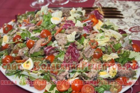 салат с тунцом рецепт с фото - Коллекция Рецептов