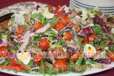 салат с тунцом фото - Коллекция Рецептов