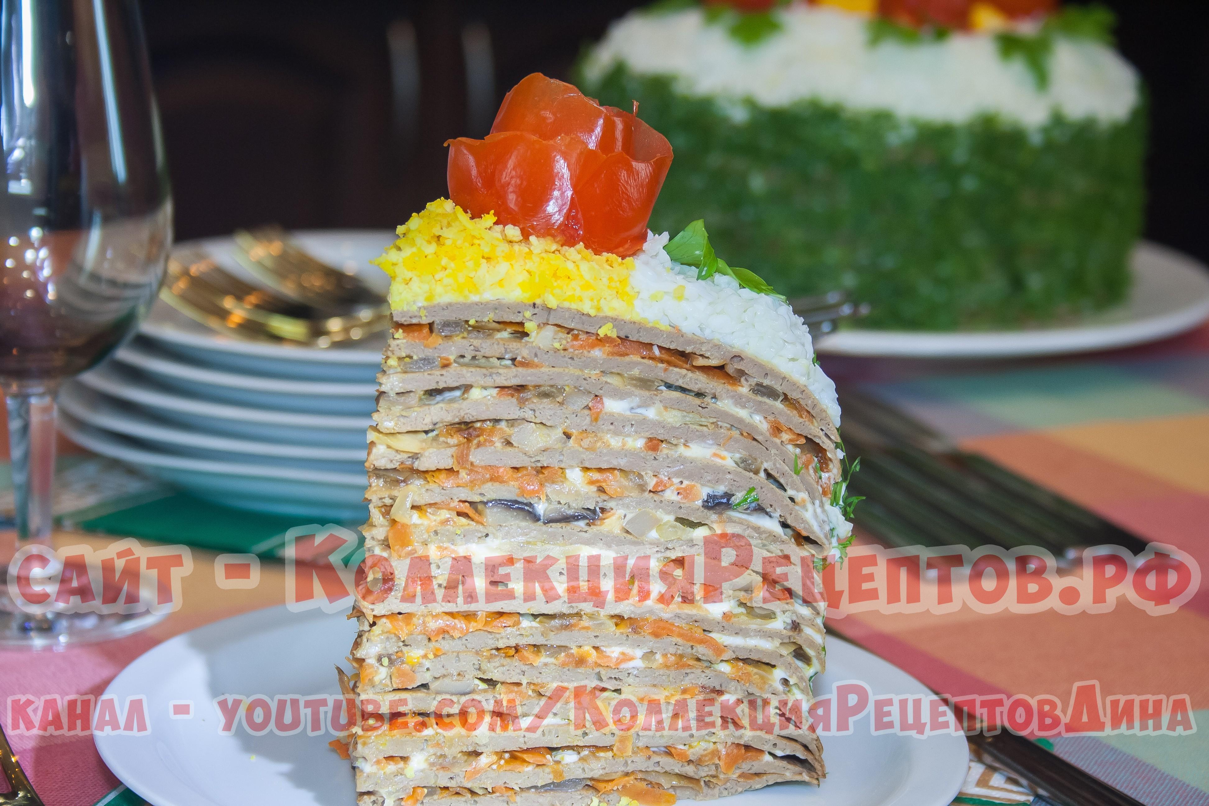 Печеночный торт рецепт пошагово с куриной печенкой и молоком