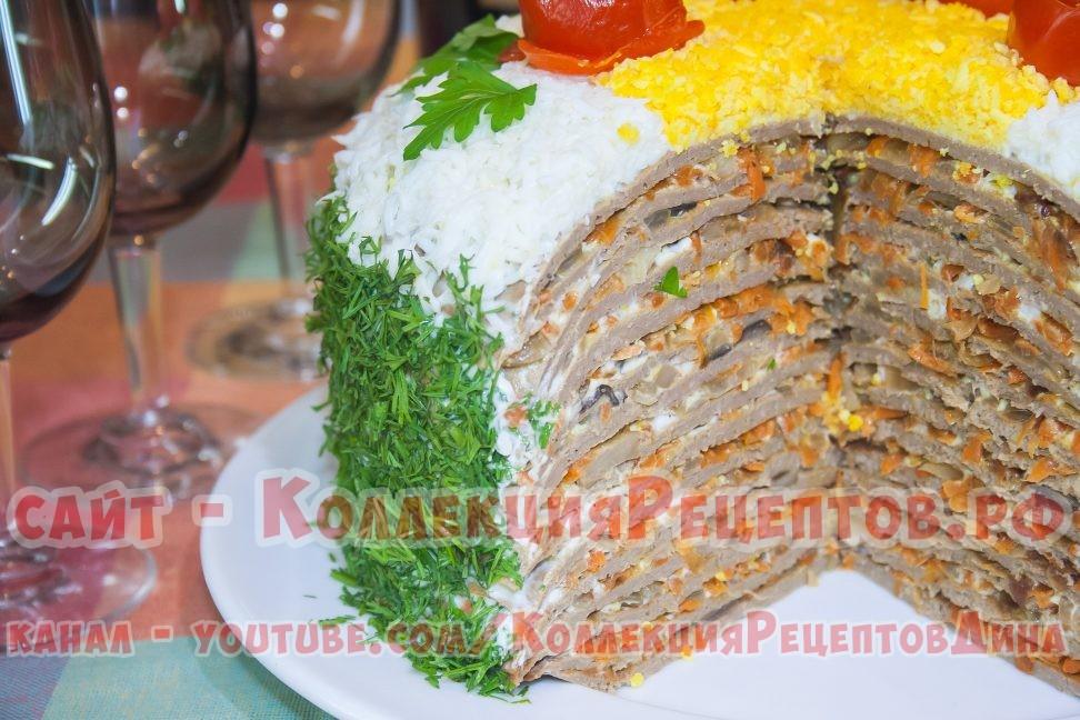 печеночный торт из печени рецепты с фото