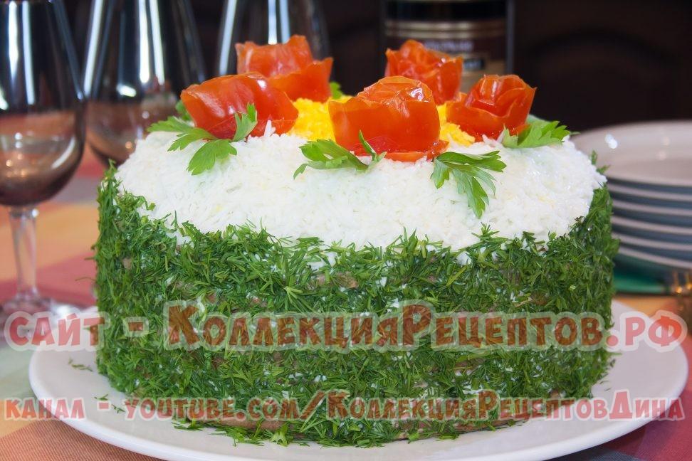 печеночный торт пошагово фото