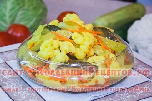 рецепт овощной