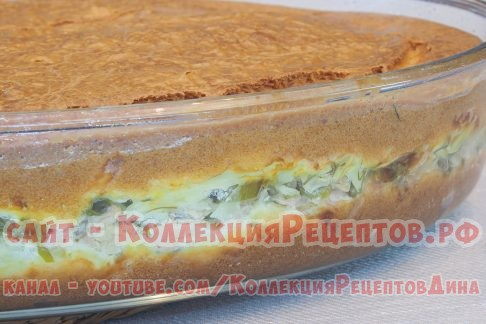 заливной пирог с консервой