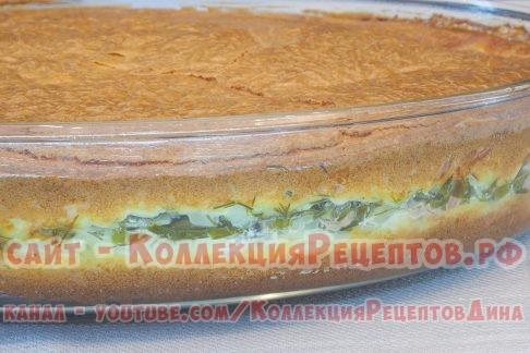 заливной пирог с рыбой рецепт с фото