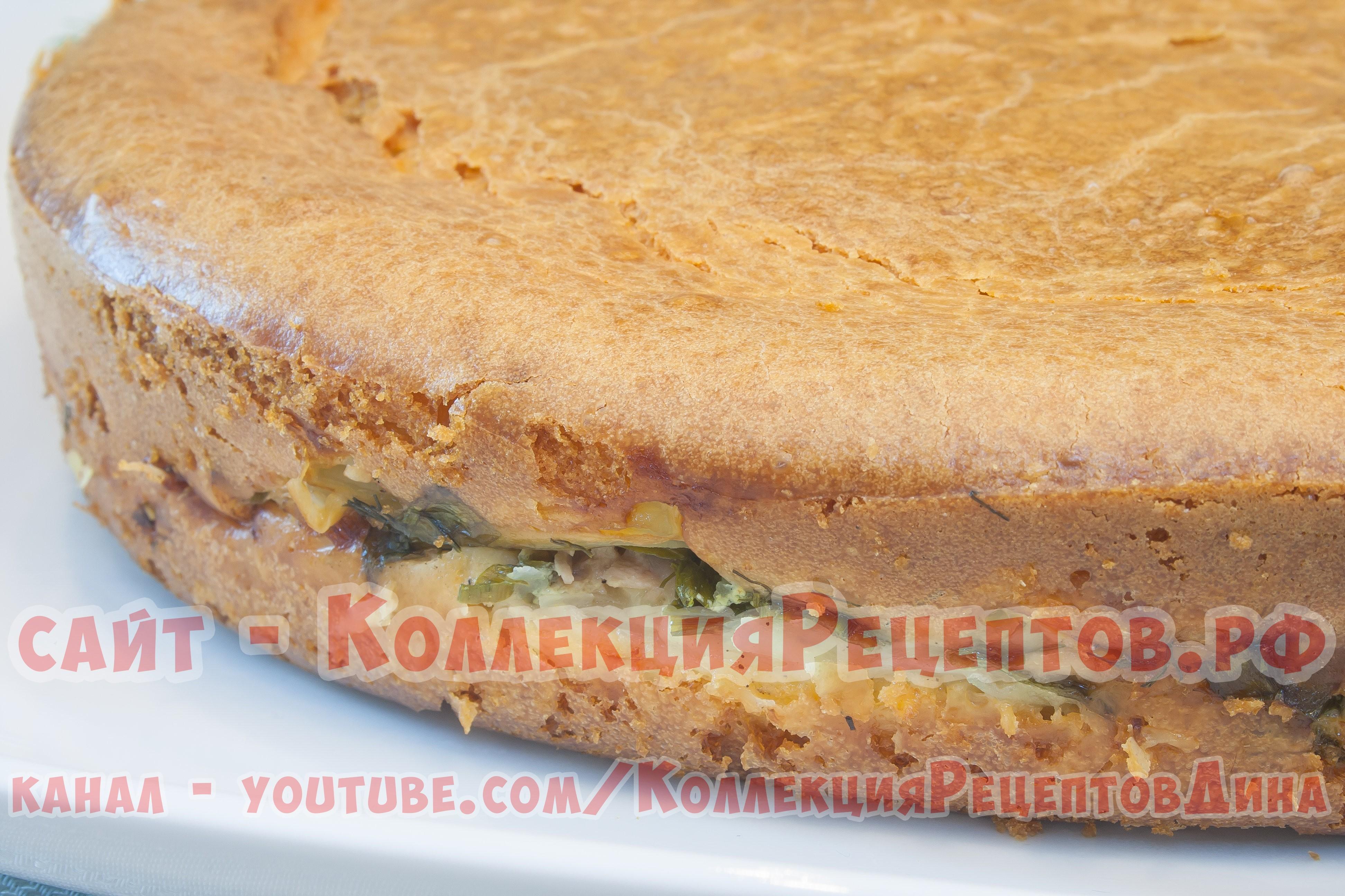 Заливной пирог на сметане рецепт с фото