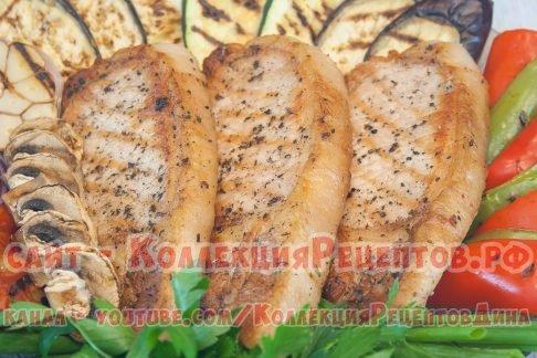 стейки из свинины