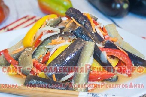 БАКЛАЖАНЫ ПО-КОРЕЙСКИ невероятно вкусная постная закуска из баклажанов