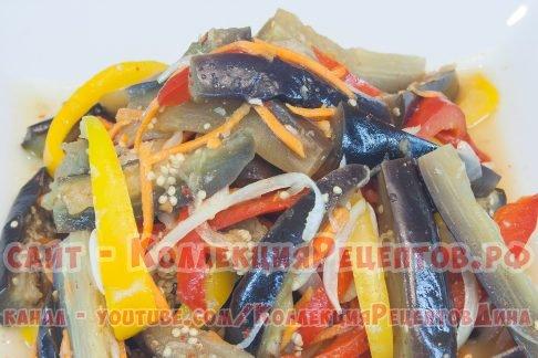 вкусные баклажаны по корейски