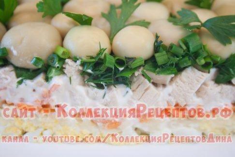 грибной салат рецепт