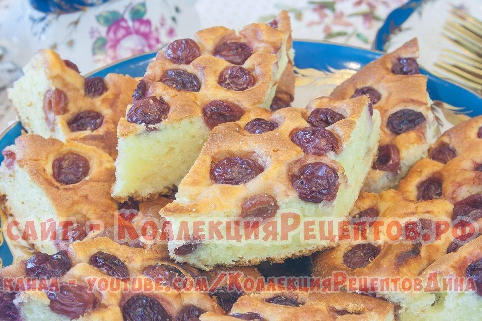 пирог с вишней заливное тесто