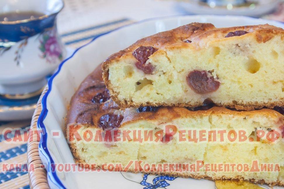 пирог с вишней и творогом с фото