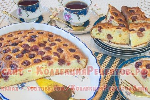 пирог с вишней пошагово