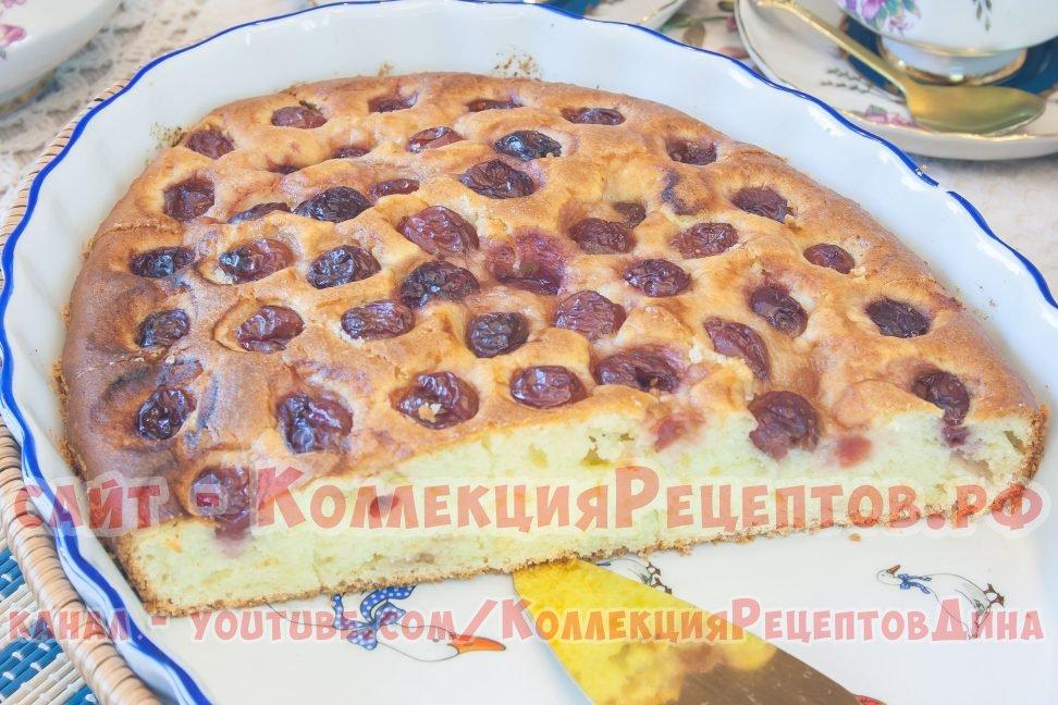 пирог с вишней с фото пошагово