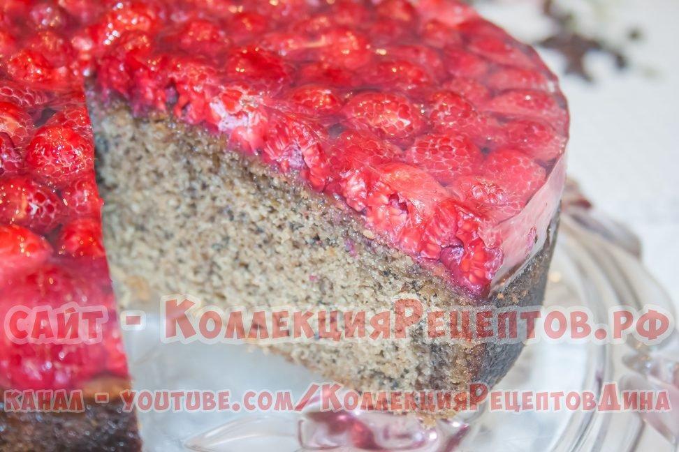 пирог с желе и ягодами