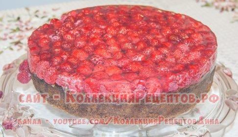 пирог с малиной рецепт пошаговый