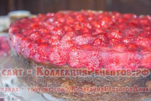 пирог с малиной свежей рецепт