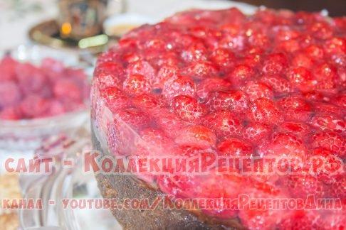 пирог с малиной свежей