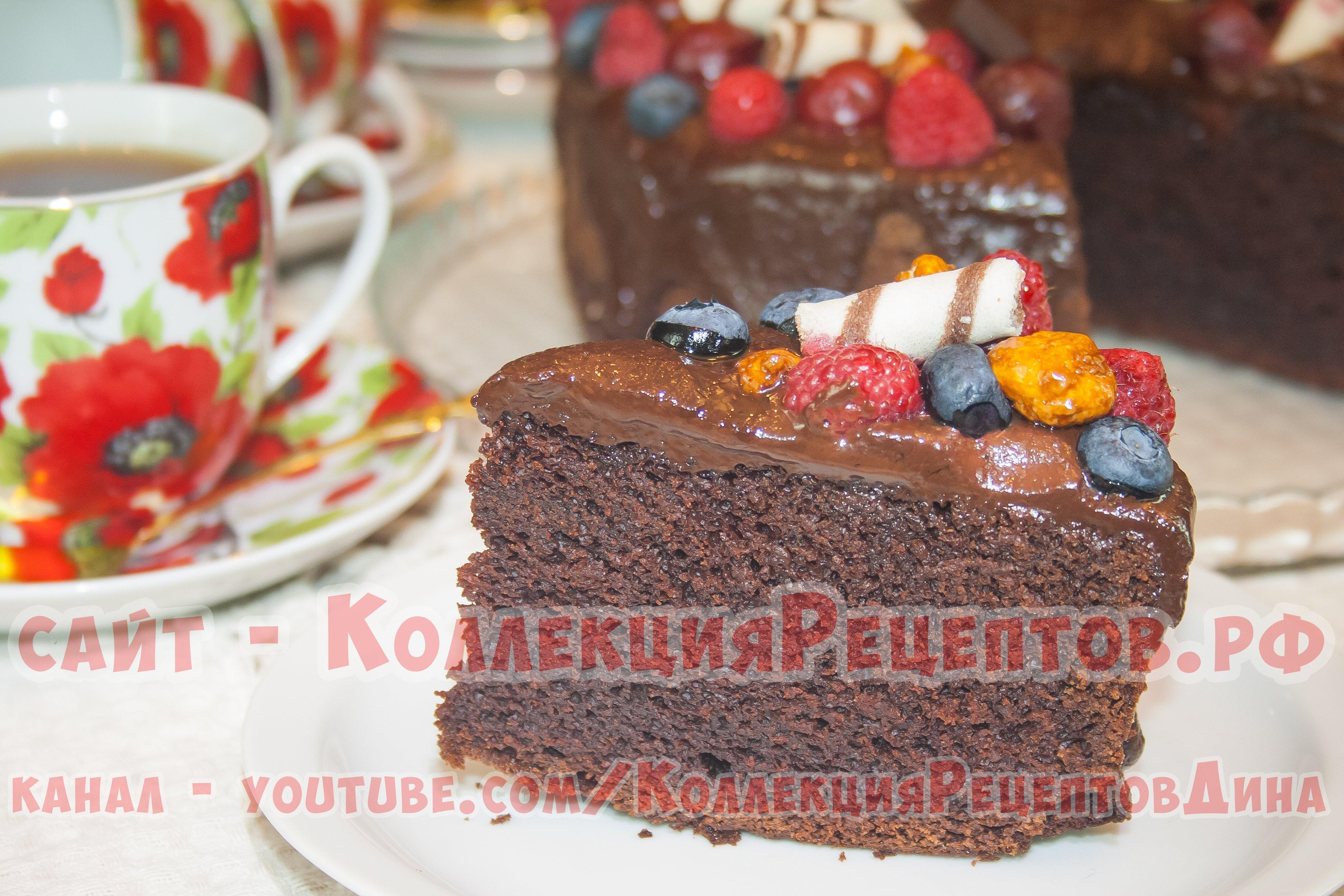 Пошаговый рецепт шоколадной глазури для торта