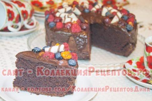 шоколадный торт пошагово