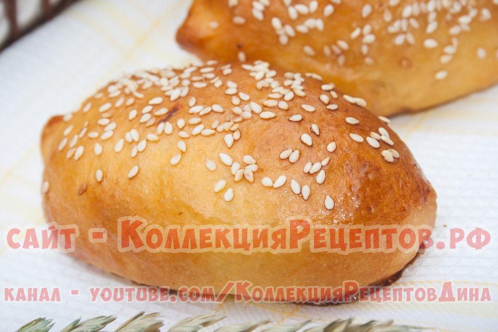 Пирожки с капустой и с мясом в духовке из сдобного дрожжевого теста