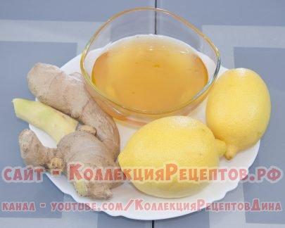 смесь мед лимон