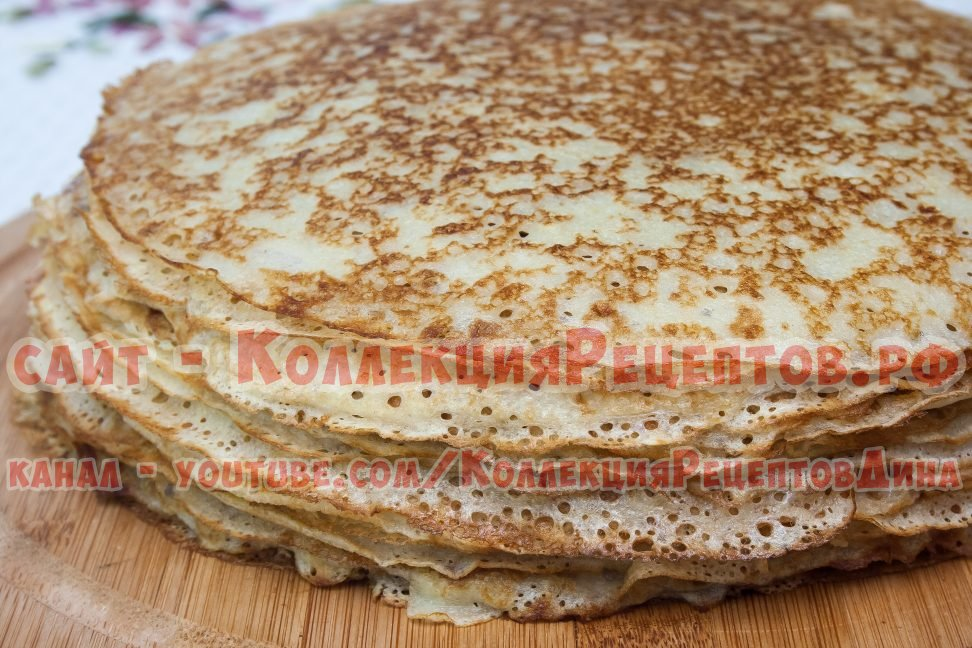 Блины на кефире - Вкусный рецепт тонких блинов на кефире 26
