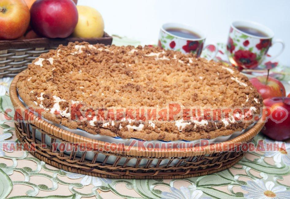 пирог с яблоками с фото пошагово