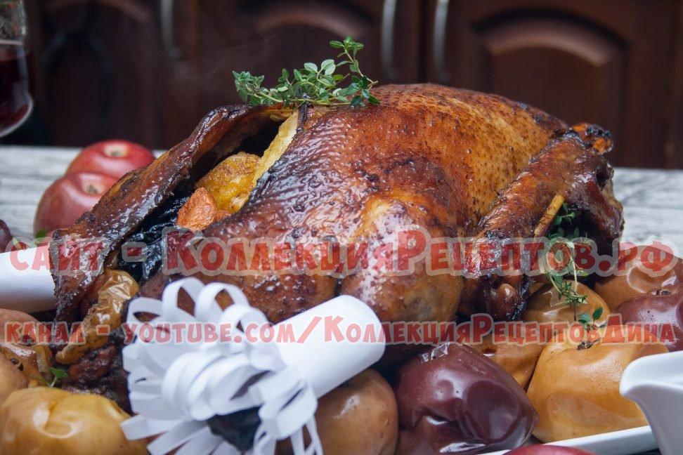 приготовление рождественского гуся