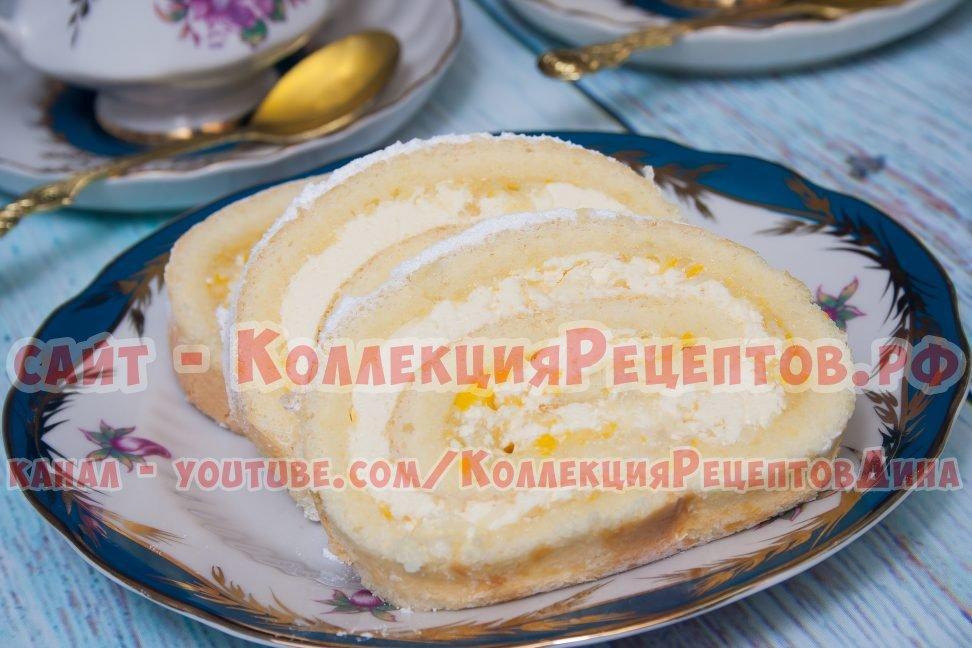 рецепт рулета бисквитного пошагово