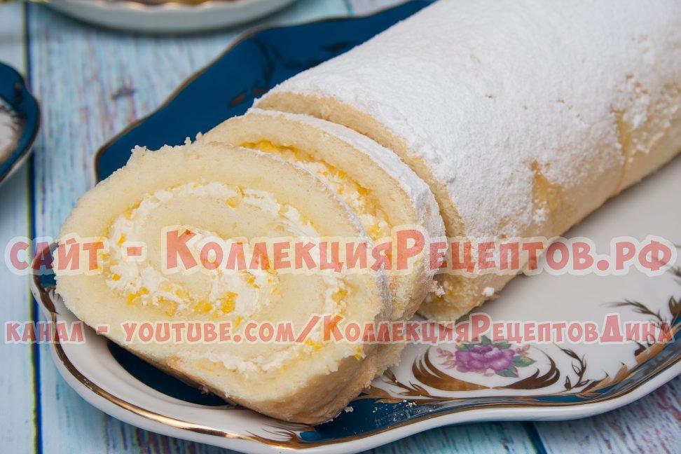 рулет бисквитный домашний рецепт