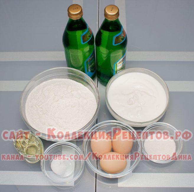 блинчики на минералке рецепт