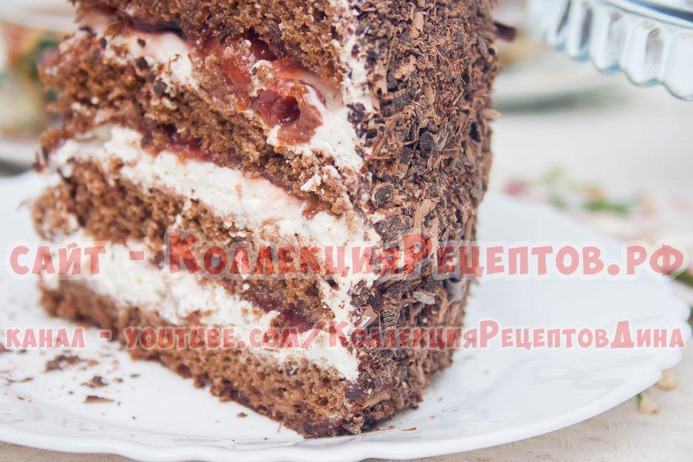 торт черный лес в домашних условиях