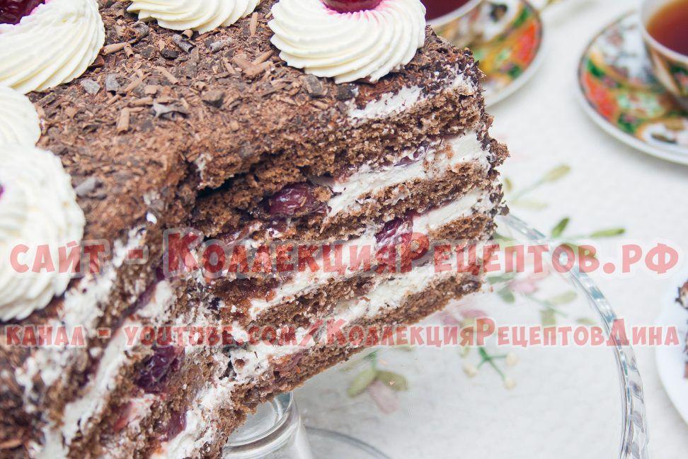 торт черный лес пошагово с фото