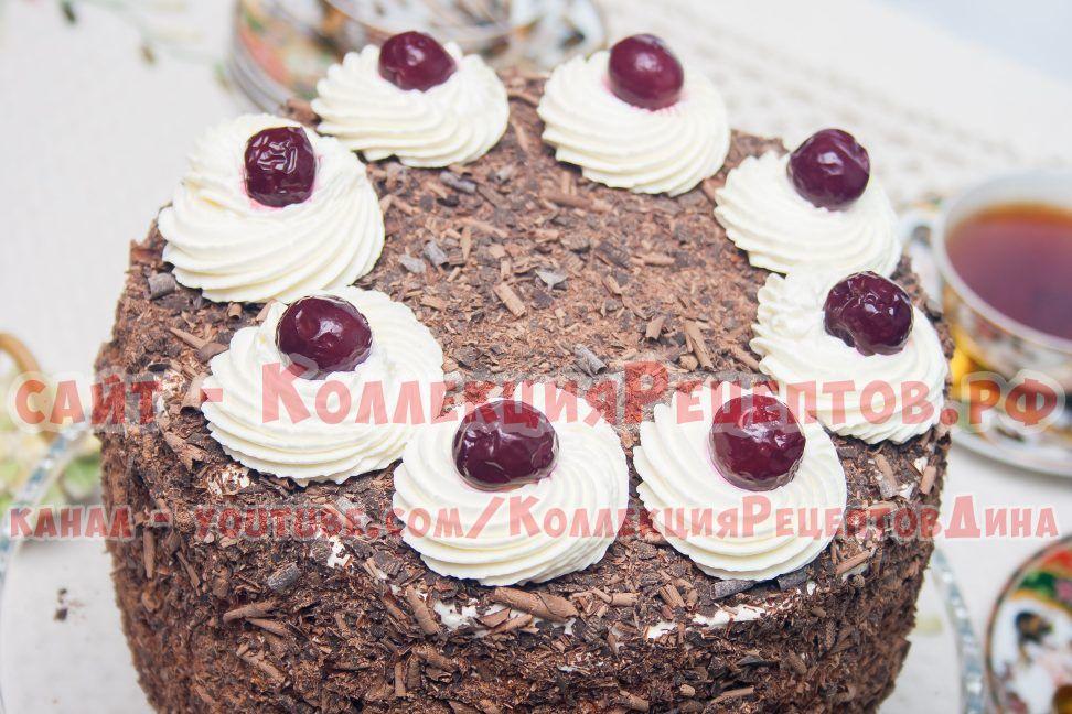 торт черный лес пошагово