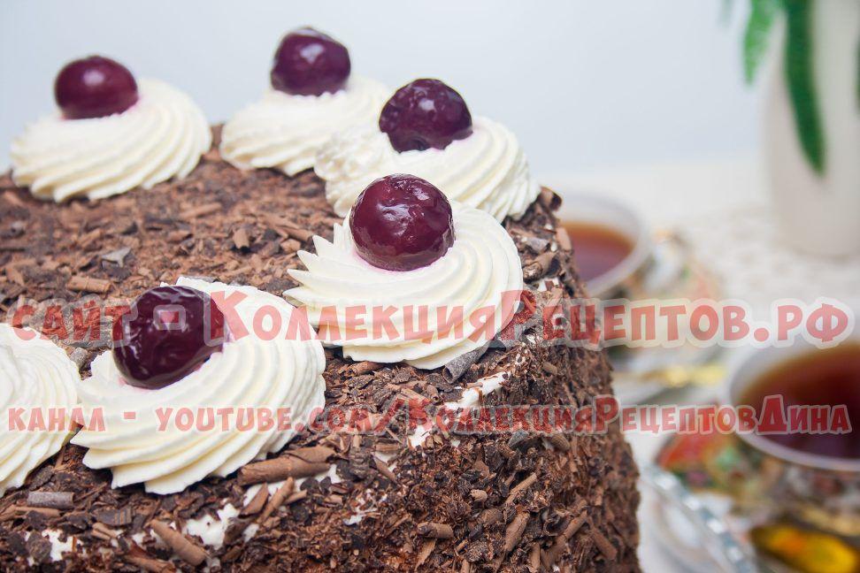 шоколадный торт с вишней рецепт
