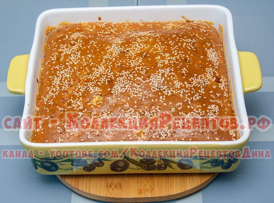 заливной пирог на кефире в духовке