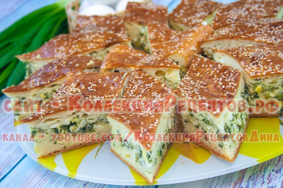 заливной пирог на кефире рецепт с фото