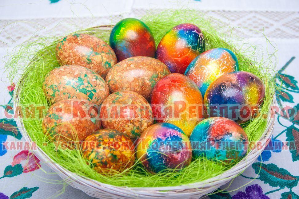 мраморные яйца на пасху рецепт