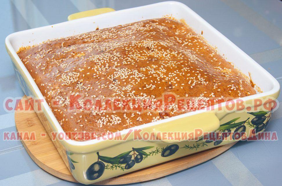 рецепт заливного пирога на кефире в духовке